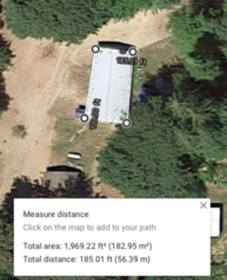 Calculating Roof Area on Google Maps