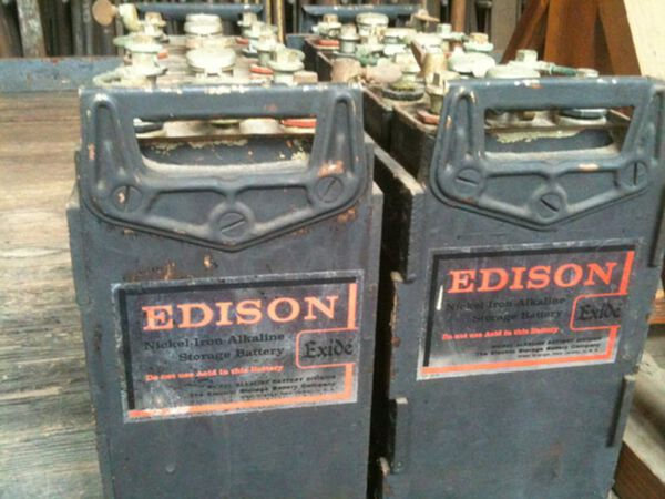 Edison Nickel Iron Batteries